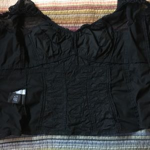 Tripp nyc Tops - Tripp NYC Black Fitted Bodice Blouse Goth